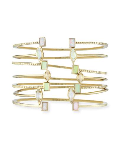 Kinsley Bracelet Set in Yellow Gold Plate