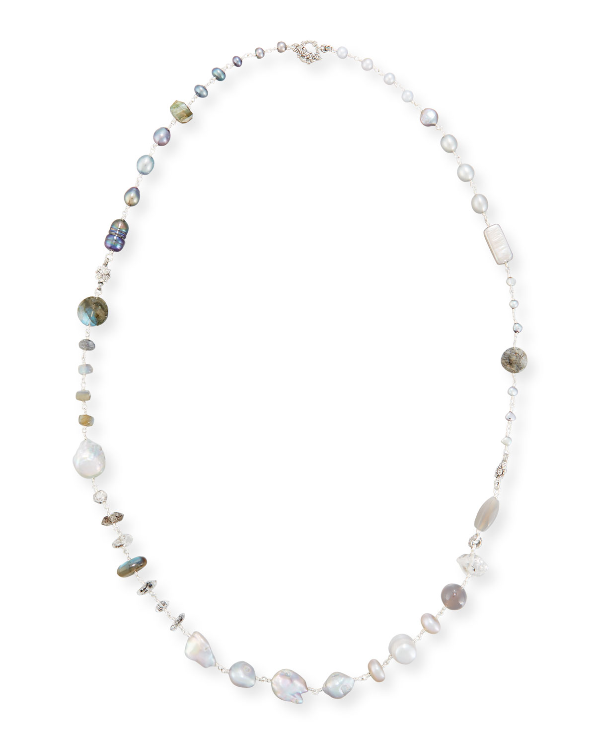 Mixed Bead & Pearl Necklace, 34