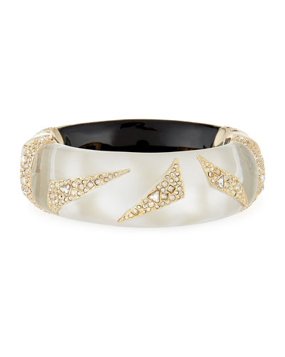Crystal-Encrusted Origami Bracelet