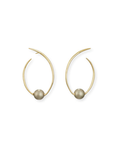 Coiled Pearly Hoop Earrings