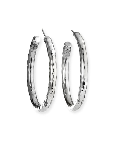 925 Glamazon #3 Small Hoop Earrings, Post