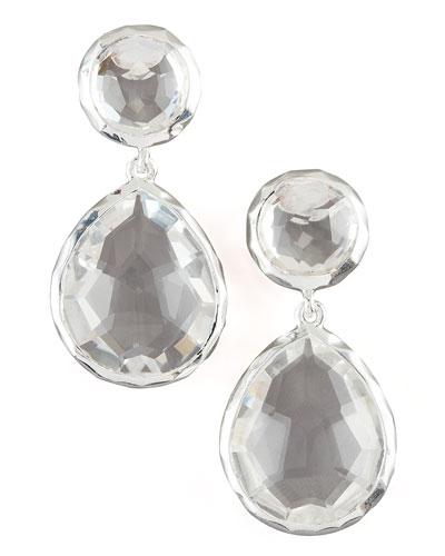 925 Rock Candy Snowman Earrings in Clear Quartz