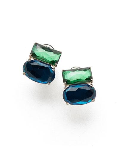 925 Rock Candy Wonderland Omega Two-Stone Earrings in Taffeta
