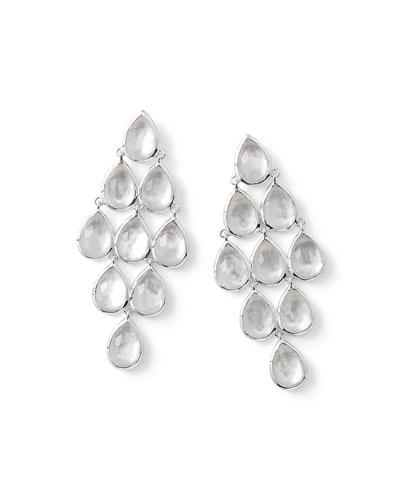 925 Rock Candy Teardrop Cascade Earrings in Mother-of-Pearl