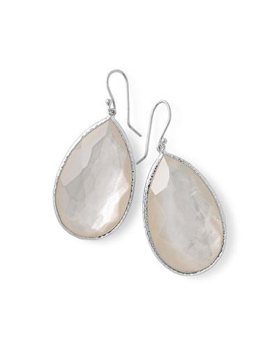 Large Pear-Shaped Earrings in Clear Doublet