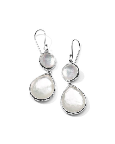 Mother-of-Pearl Wonderland Teardrop Earrings in Oyster