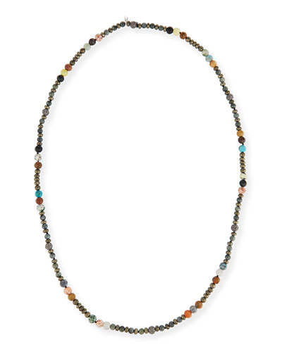 Caryn Long Beaded Necklace, 43