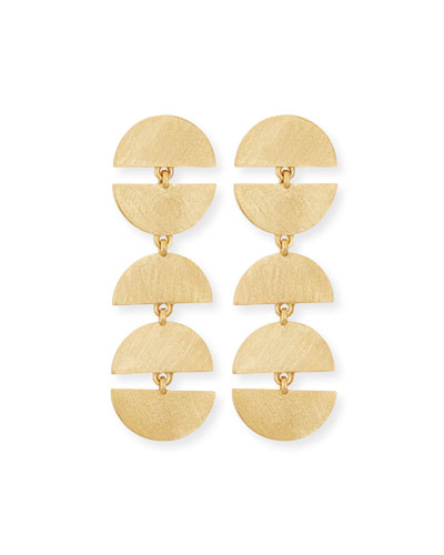 Zen Half Moon Drop Earrings