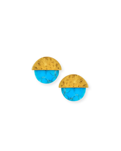Enlightenment Turquoise Disc Earrings