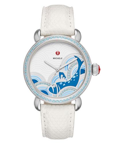 36mm Seaside Topaz Bluefish Dial Watch Head