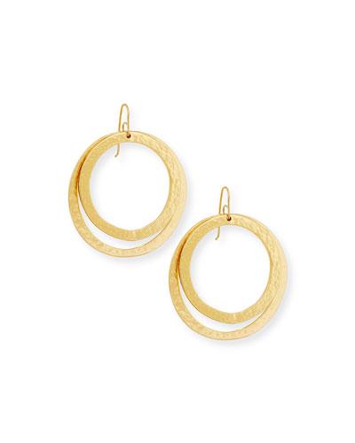 Paris Double Round Large Drop Earrings