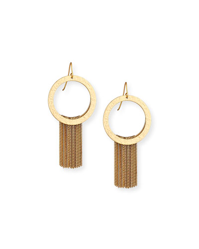 Paris Golden Waterfall Chain Earrings