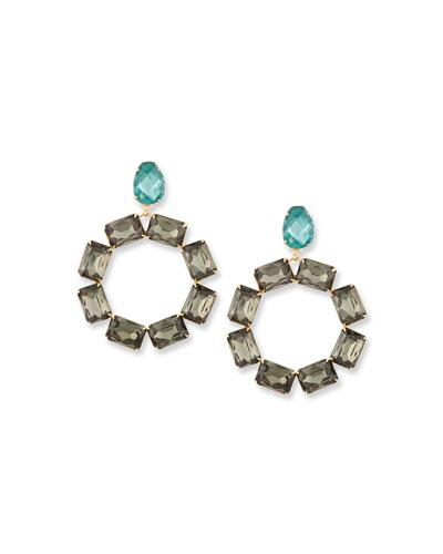 Crystal Wreath Drop Earrings