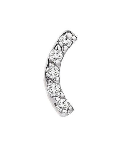 Rainbow White Diamond Arch Earring