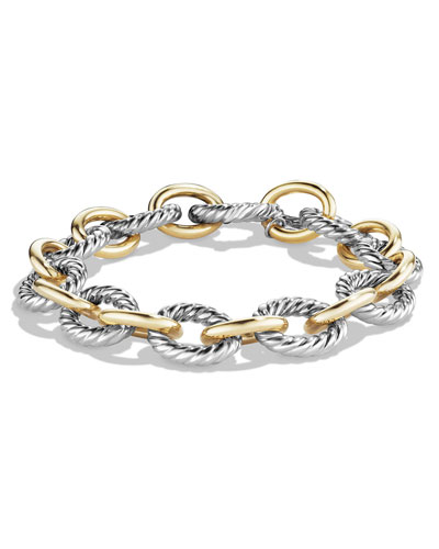 66167058c95 Quick Look. David Yurman · Large Oval Link Chain Bracelet, Silver/Gold