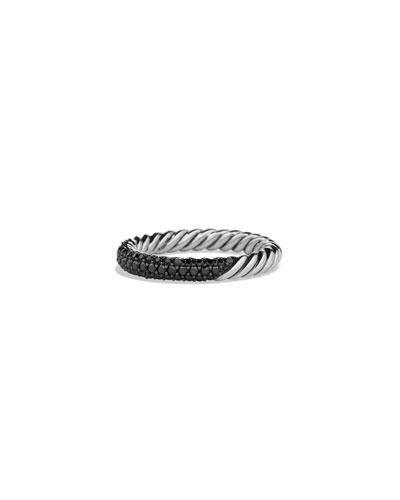 Petite Pave Ring with Black Diamonds