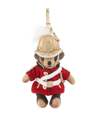 The Regimental Thomas Bear Bag Charm, Camel