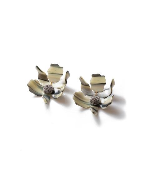 Lele Sadoughi Crystal Lily Earrings