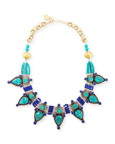 Turquoise & Lapis Statement Necklace