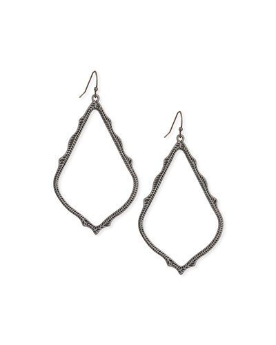Sophee Statement Drop Earrings in Gunmetal