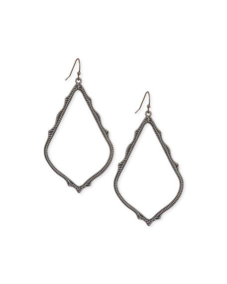 Kendra Scott Sophee Statement Drop Earrings in Gunmetal