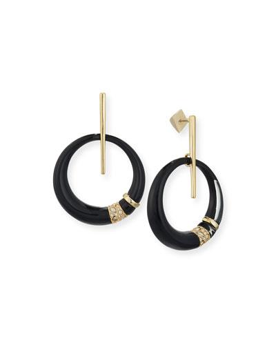 Crystal-Encrusted Minimalist Hoop Earrings