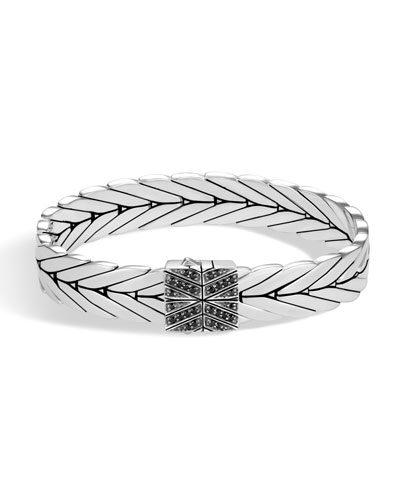 Modern Chain Medium Bracelet with Black Sapphire