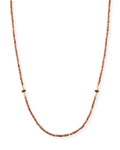 Old World Beaded Zircon Necklace with Diamonds, 42