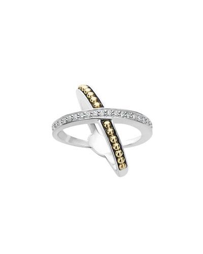 KSL Diamond X Ring, Size 7