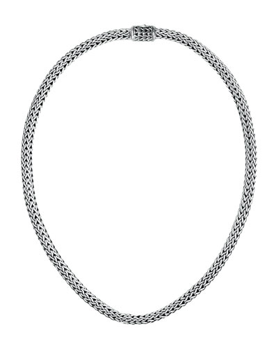 Batu Classic Chain Extra-Small Sterling Silver Necklace, 16