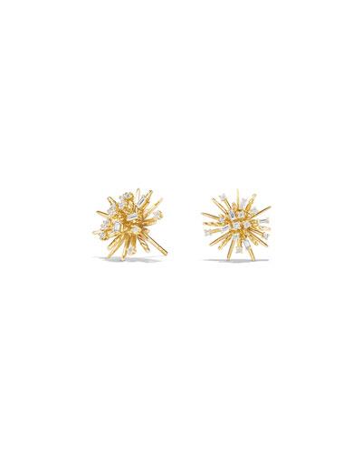 Supernova Diamond Earrings in 18K Gold
