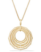 """Stax 18k Gold Pendant Necklace with Diamonds, 16"""""""