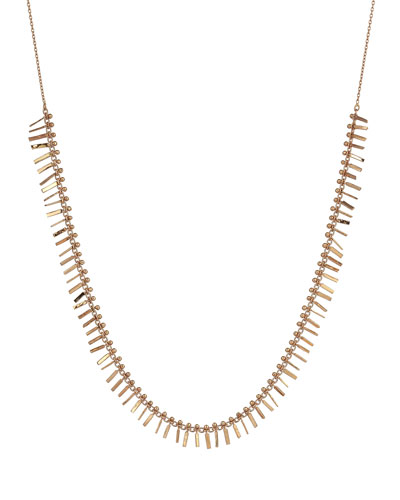 Seed Intensive Tassel Necklace in 14K Rose Gold