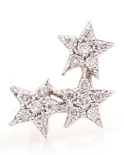 Wonder Star Stud Earring with Diamonds, Each