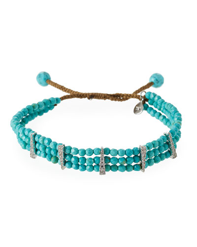 Beaded Turquoise Cord Bracelet