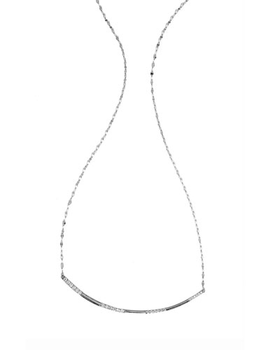 Expose Flawless Diamond Bar Necklace in 14K White Gold
