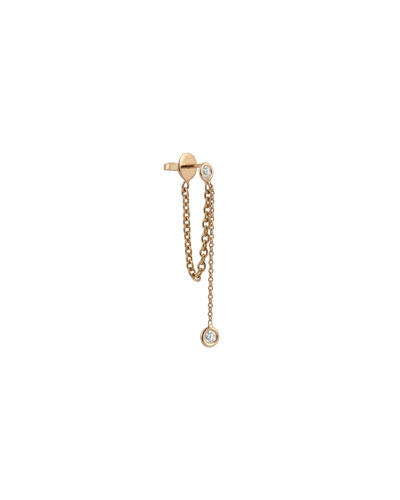 Colors 14K Rose Gold Chain Earring with Diamonds