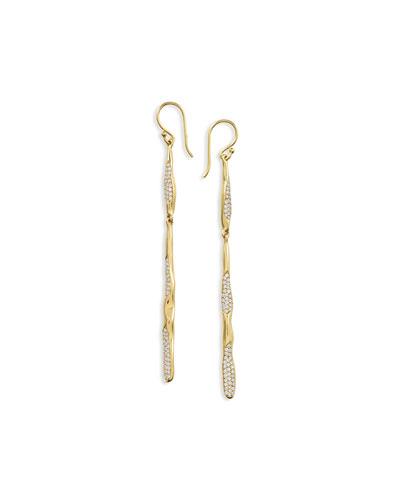 18K Glamazon Skinny Stick Earrings with Diamonds