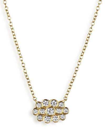 18K Glamazon Stardust Petite Multi-Bezel Necklace with Diamonds