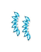 Marquis Wing Climber Earrings