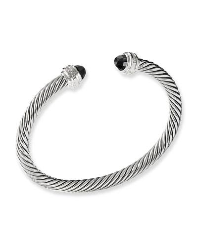 Cable Classics Bracelet with Hampton Blue Topaz and Diamonds
