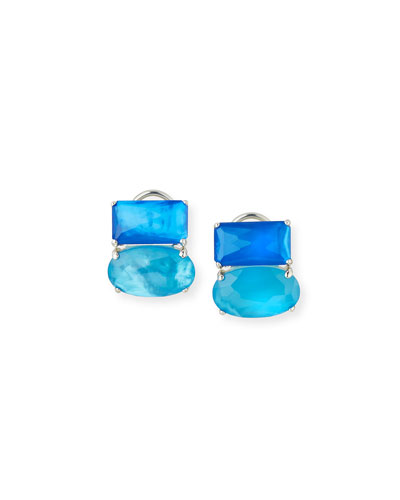 925 Rock Candy Wonderland Omega Two-Stone Earrings in Island