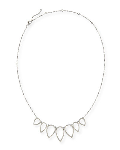 Diamond Open Teardrop Chain Necklace, 20
