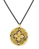 "Diamond Shield Pendant Necklace, 30""L"