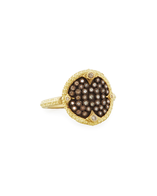 Old World Pave Diamond Disc Ring