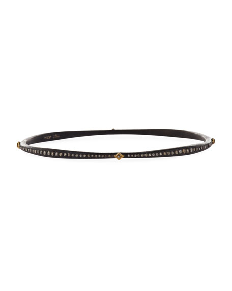 Armenta Old World Crivelli Eternity Bangle with Black Sapphires & Diamonds