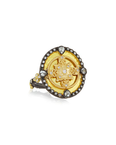 OId World Heraldry Oval Shield Ring