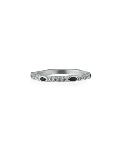 New World Blue Sapphire & Diamond Stacking Ring