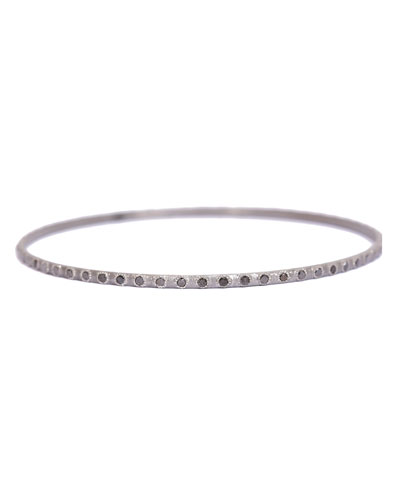 New World Eternity Bangle Bracelet with Black Diamonds