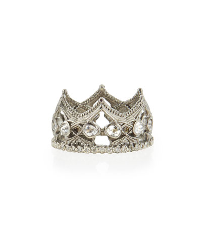 New World Sapphire & Diamond Crown Ring